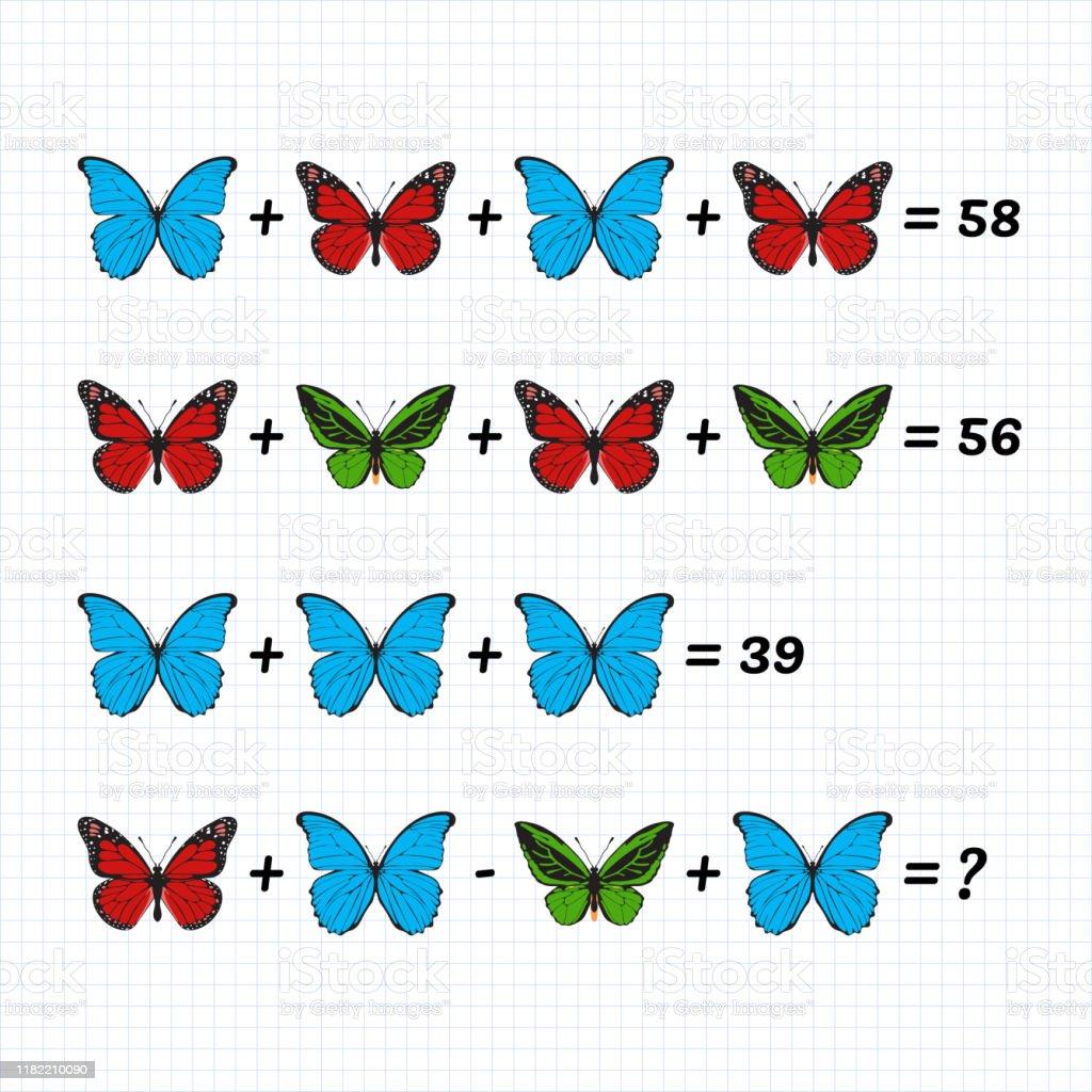 Matematiksel Toplama Cikarma Bulmacasi Denklemsistemi Cocuklar