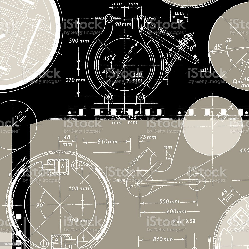 Mathematical Background vector art illustration