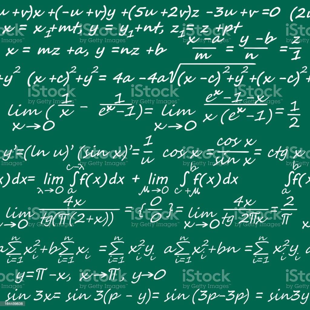 Mathematics seamless vector art illustration