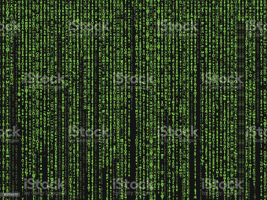 matrix background royalty-free stock vector art