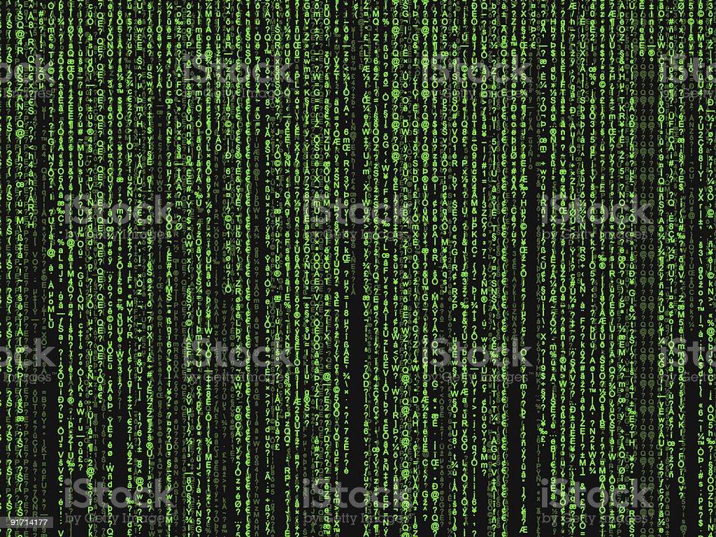 matrix background vector art illustration