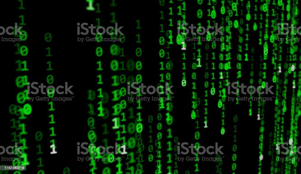 Matrix Code Background Stock Illustration - Download Image
