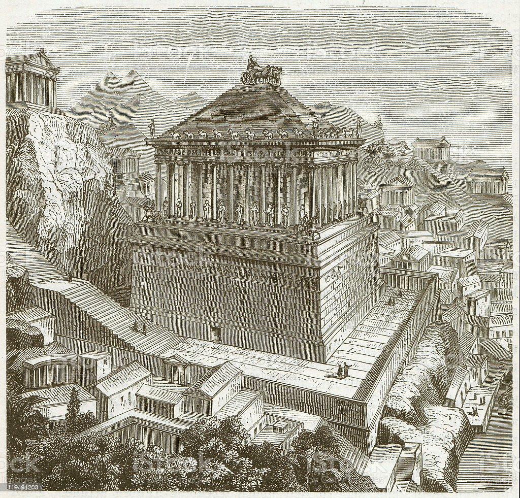 Mausoleum of Halicarnassus vector art illustration
