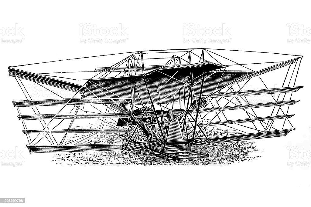 Maxim volando máquina - ilustración de arte vectorial