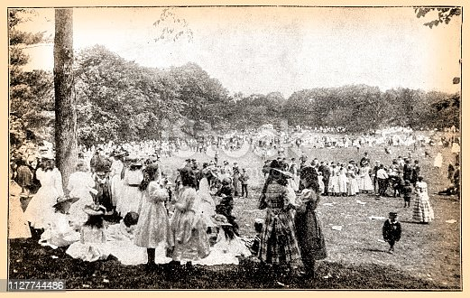 Illustration of a May Day in Central Park, New York 1897