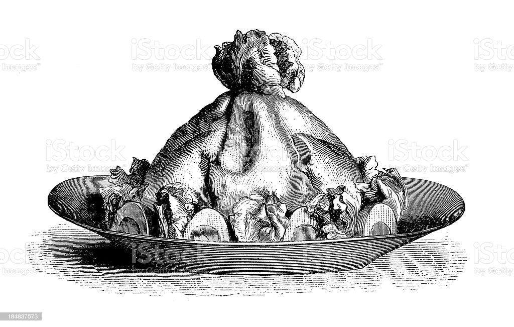 Mayonnaise   Antique Gourmet Illustrations royalty-free stock vector art