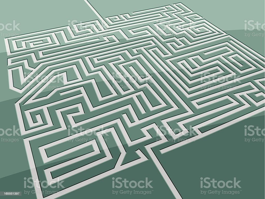 Maze Aerial View royalty-free stock vector art