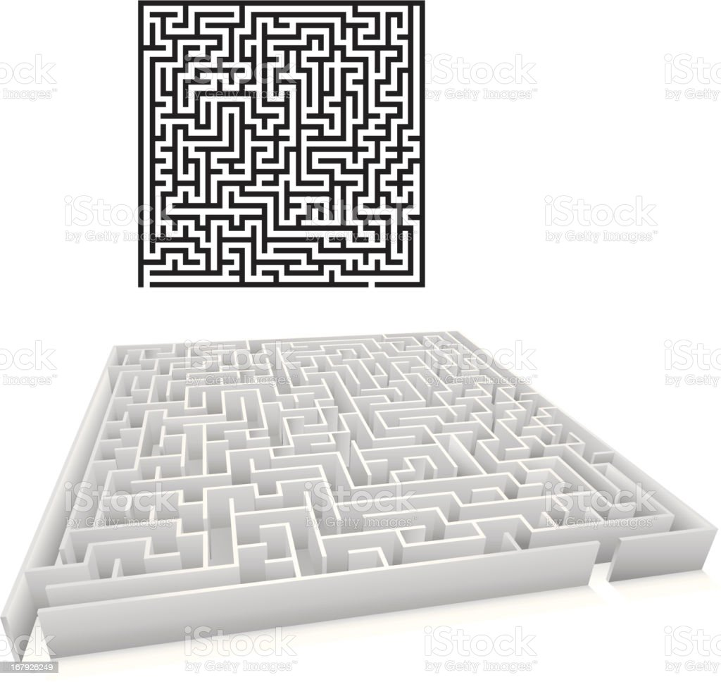 Maze royalty-free maze stock vector art & more images of backgrounds