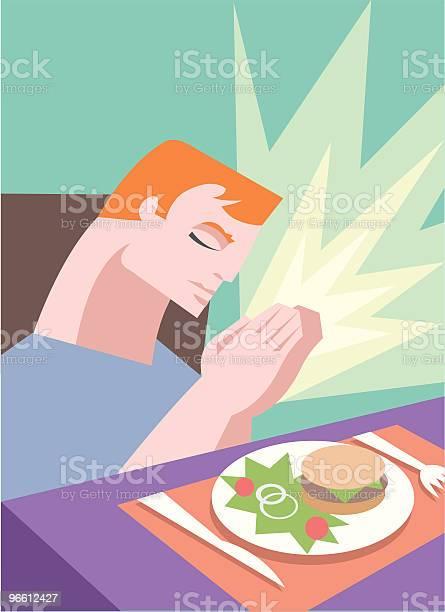 Mealtime Prayer-vektorgrafik och fler bilder på Andlighet