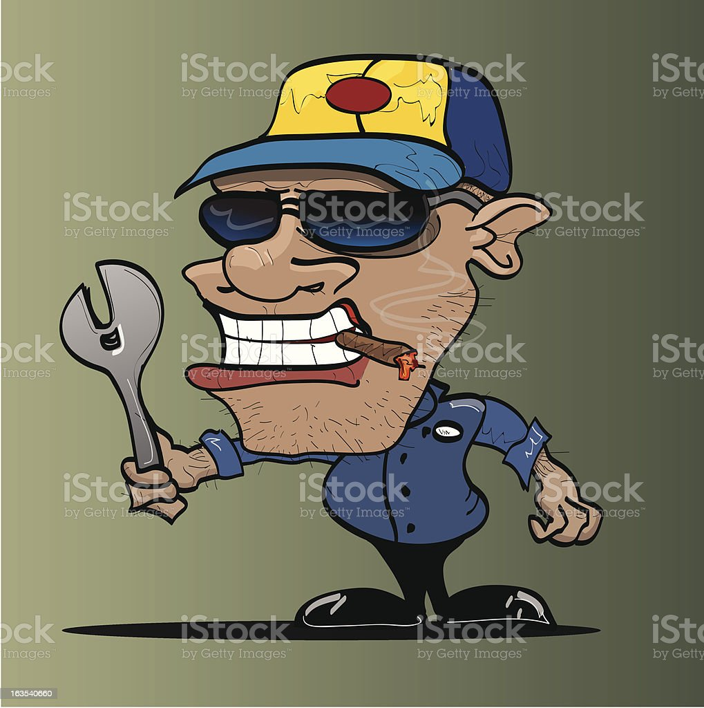 Mean Mechanic royalty-free mean mechanic stock vector art & more images of adult