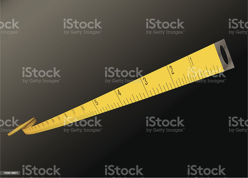 measure tape - inches royalty-free stock vector art