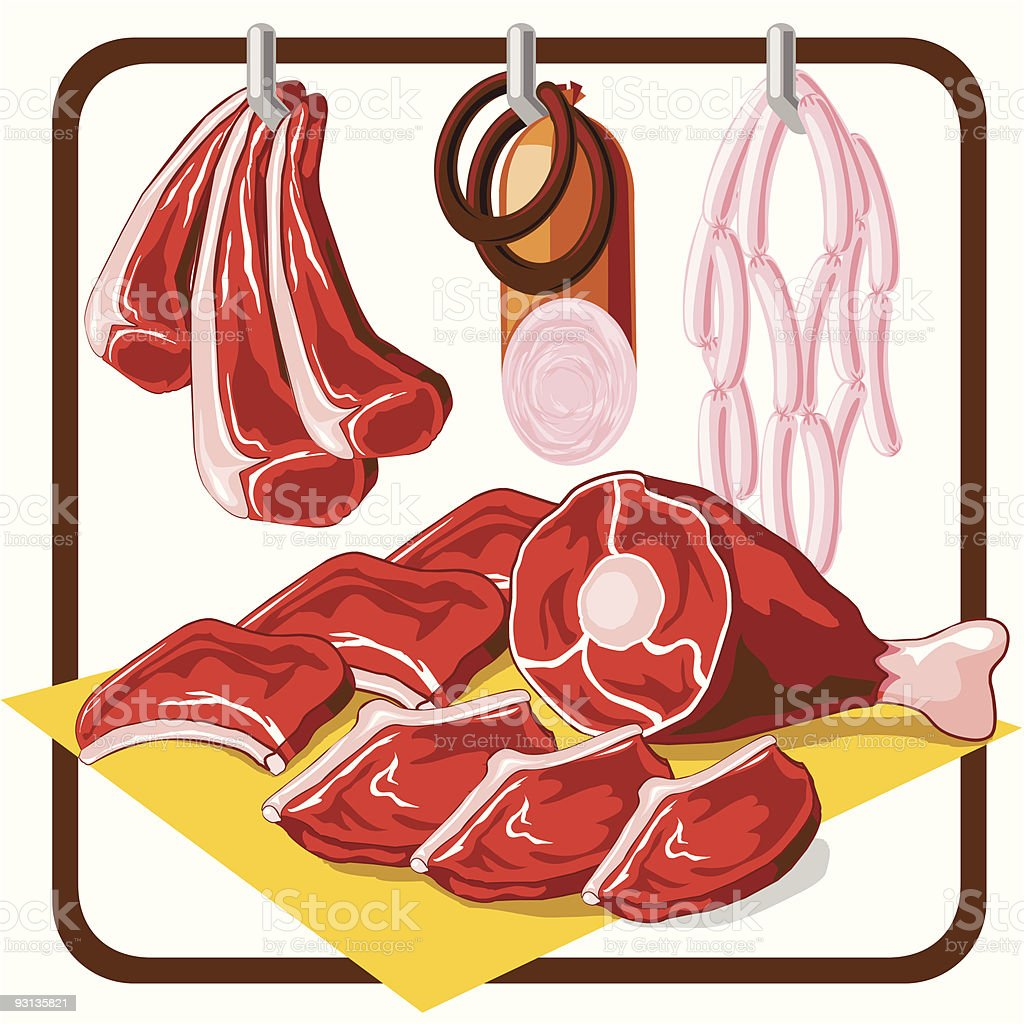 Meat Products royalty-free stock vector art