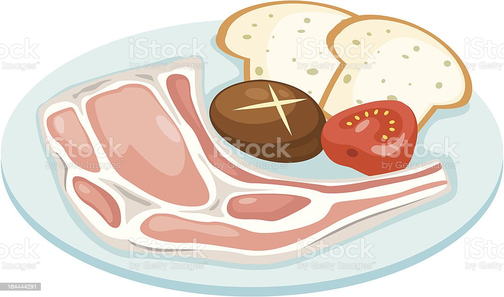 meat set royalty-free stock vector art