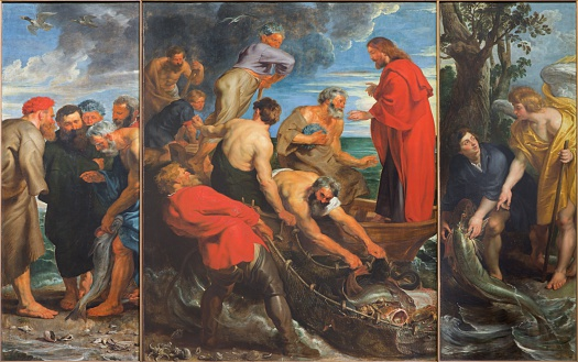 Mechelen - The Miracle fishing triptych by Rubens