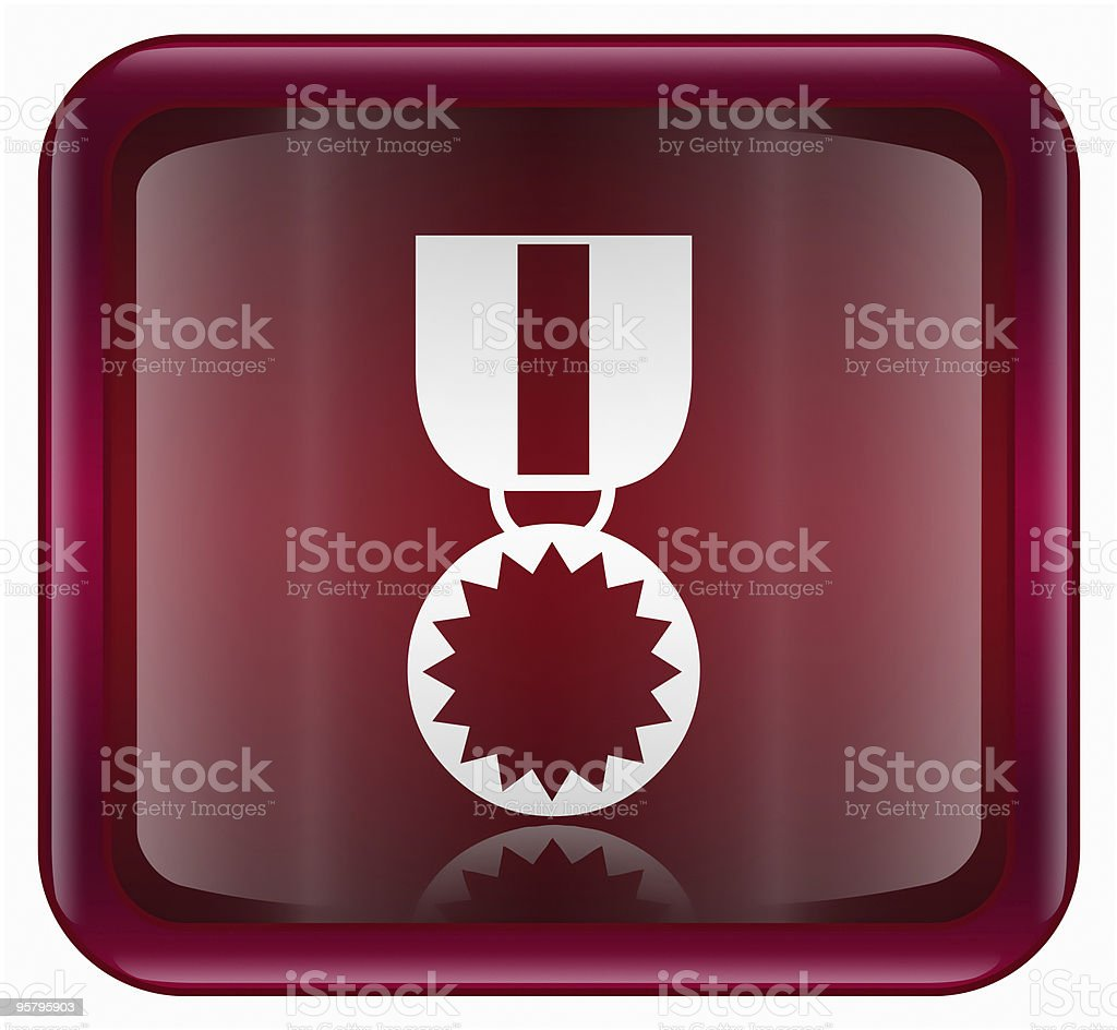 medal icon red, isolated on white background. royalty-free stock vector art