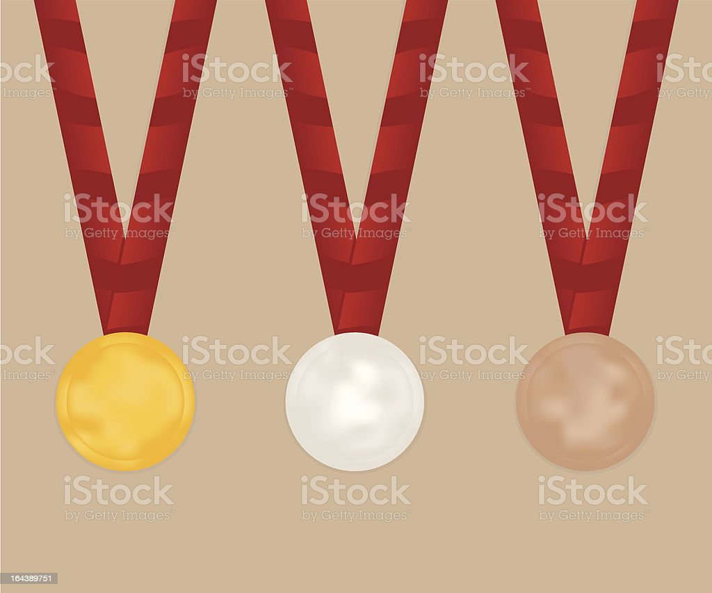 Medal Set royalty-free stock vector art