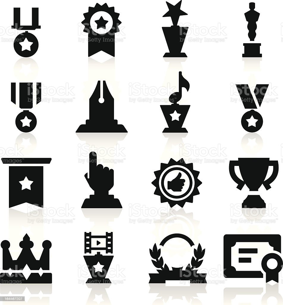 Medals icons vector art illustration