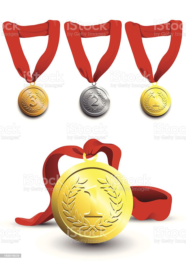 Medals royalty-free medals stock vector art & more images of award