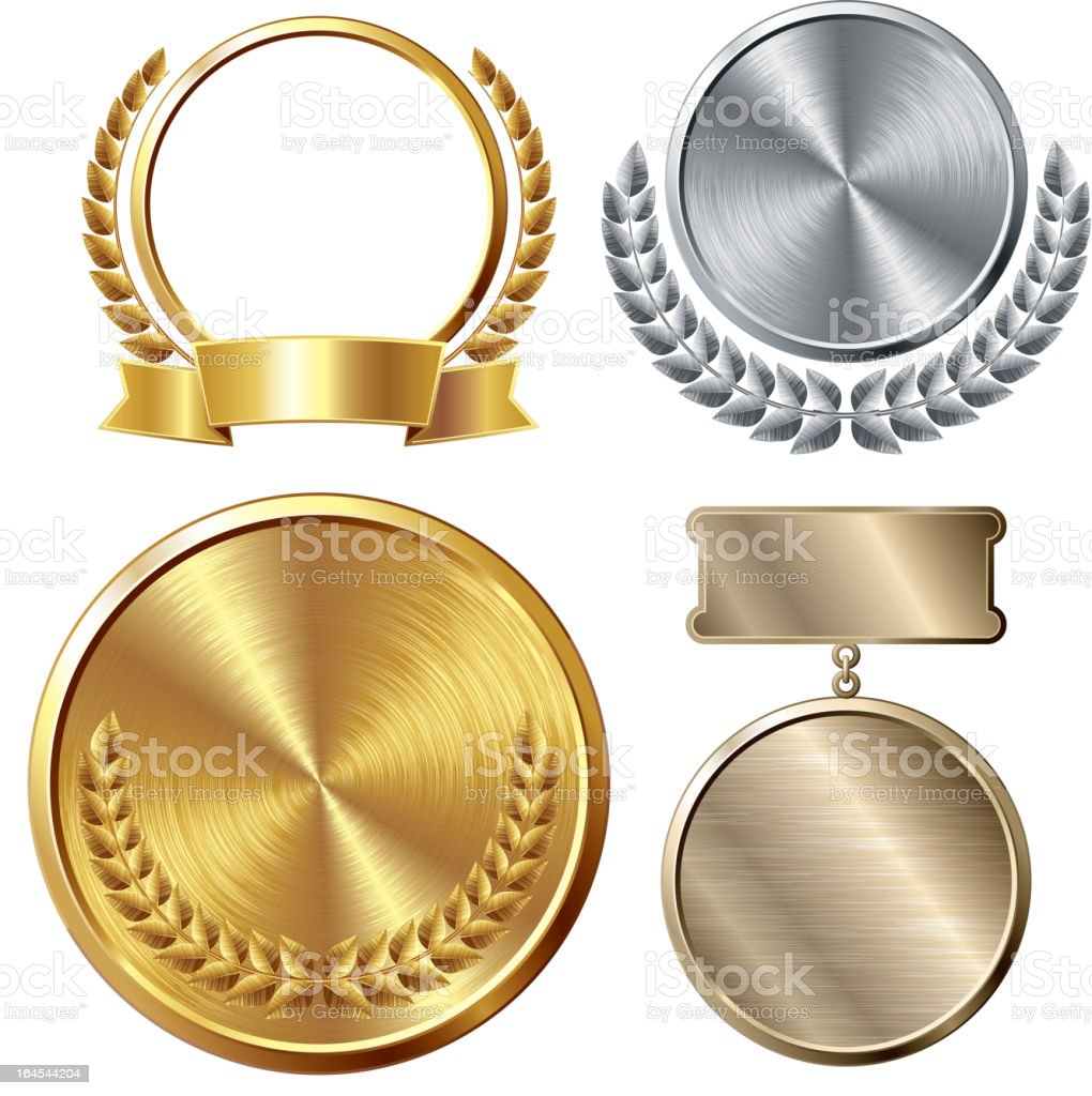 Medals vector art illustration