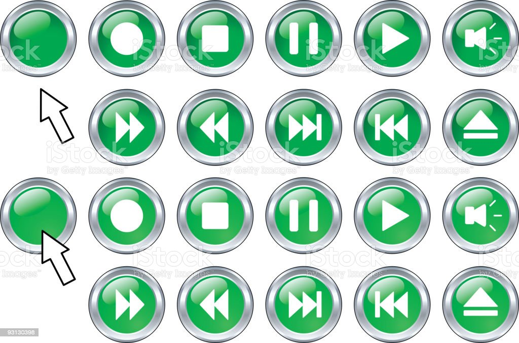 Media buttons. royalty-free stock vector art