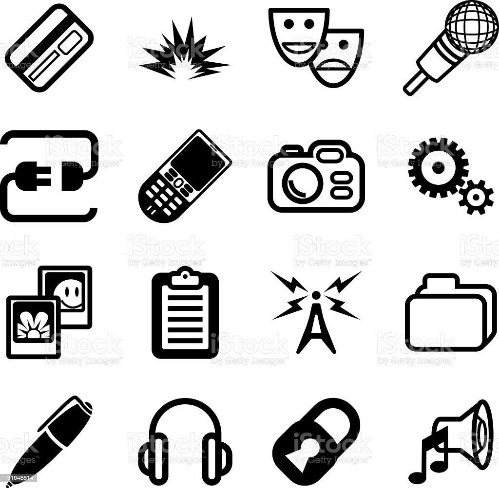 Media computing Icon Series royalty-free media computing icon series stock vector art & more images of antenna - aerial