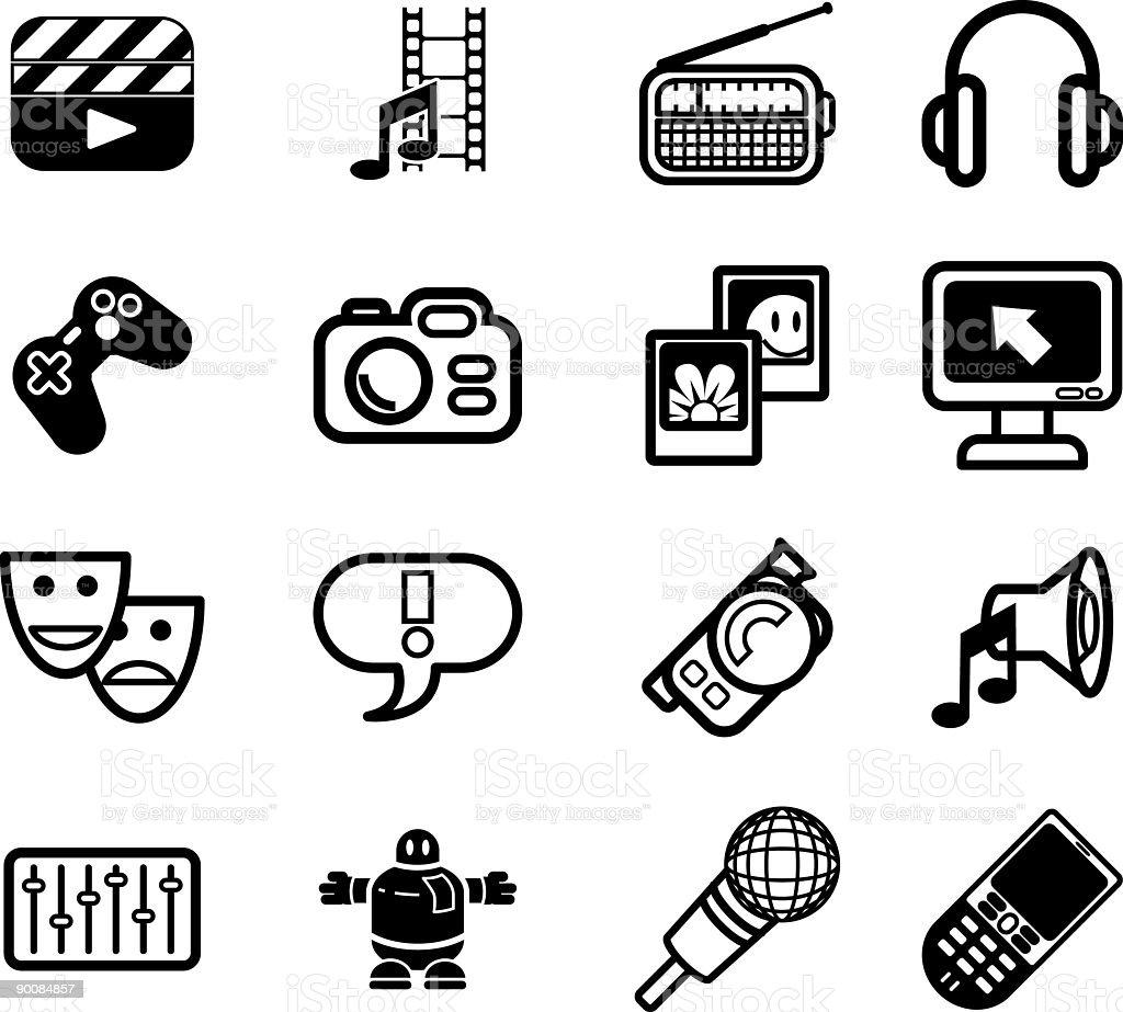 Media icon series set royalty-free stock vector art