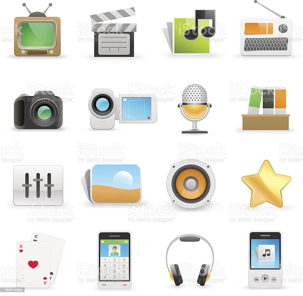 Media icons royalty-free media icons stock vector art & more images of camera - photographic equipment