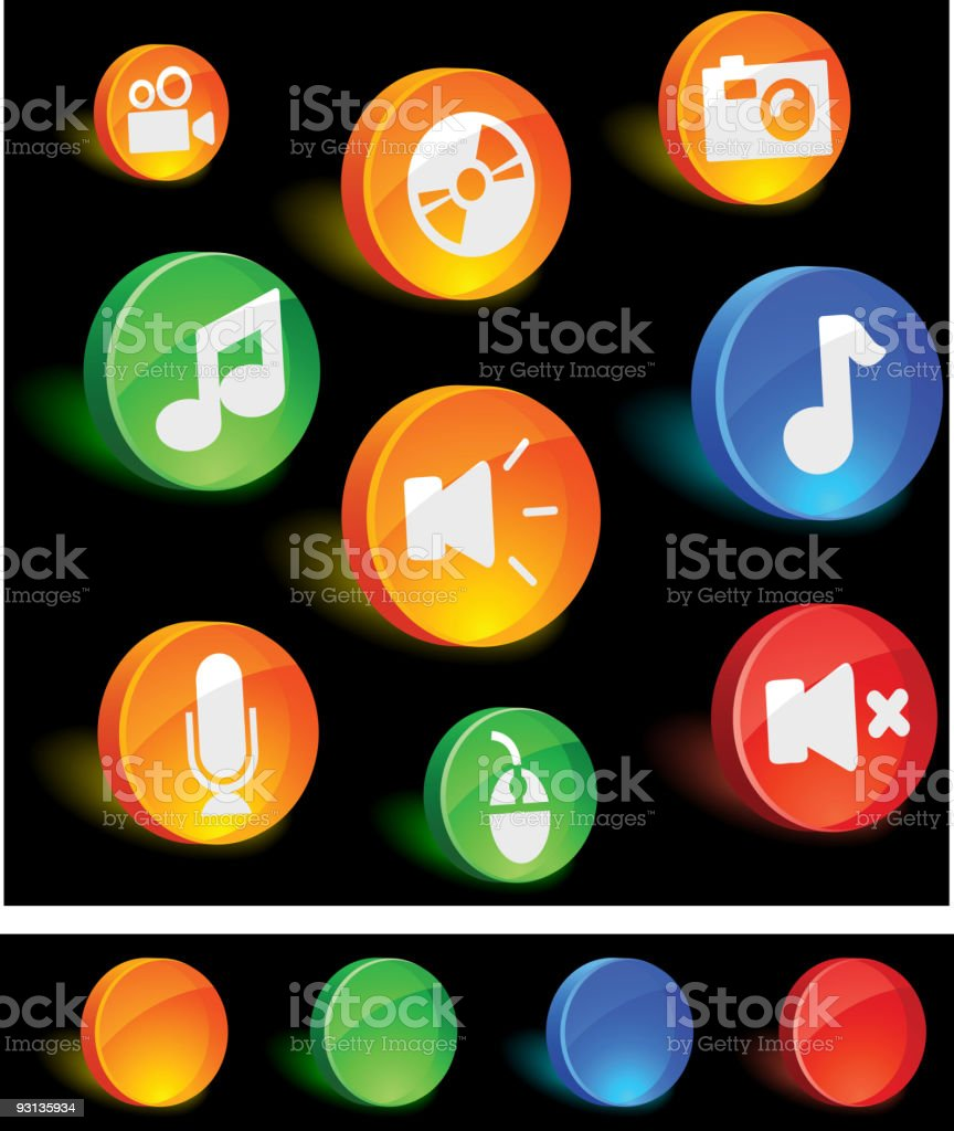Media Icons royalty-free media icons stock vector art & more images of aquatic organism