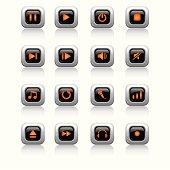 Media LED Icons Set ( orange )