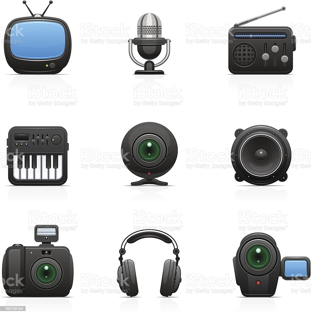 Media | Orbi collection royalty-free media orbi collection stock vector art & more images of audio equipment