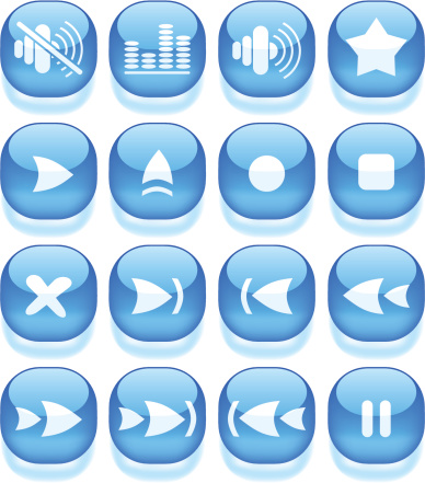 Media Player Icons Stock Illustration - Download Image Now