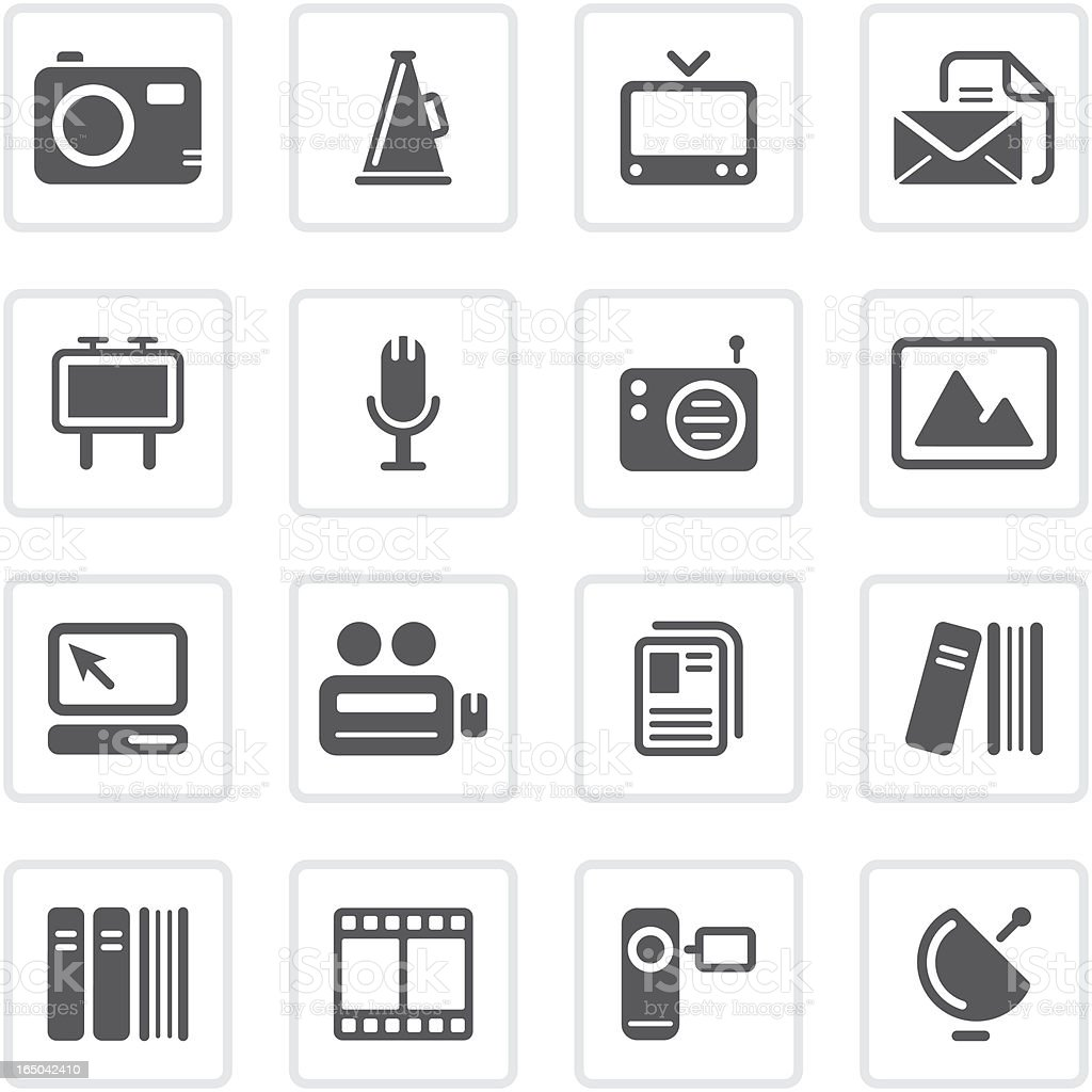 Media & Publishing icons   prime series royalty-free stock vector art