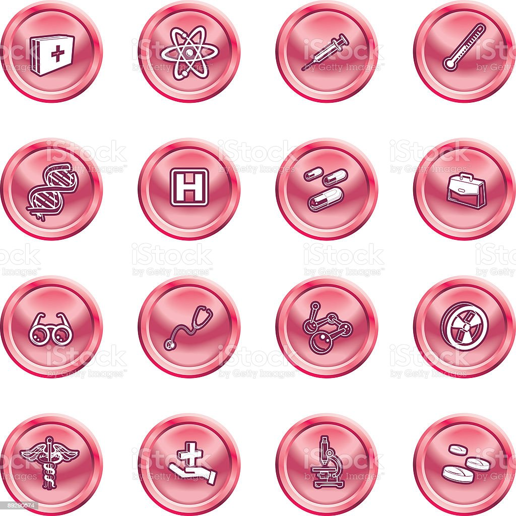 Medical and scientific icons. royalty-free stock vector art