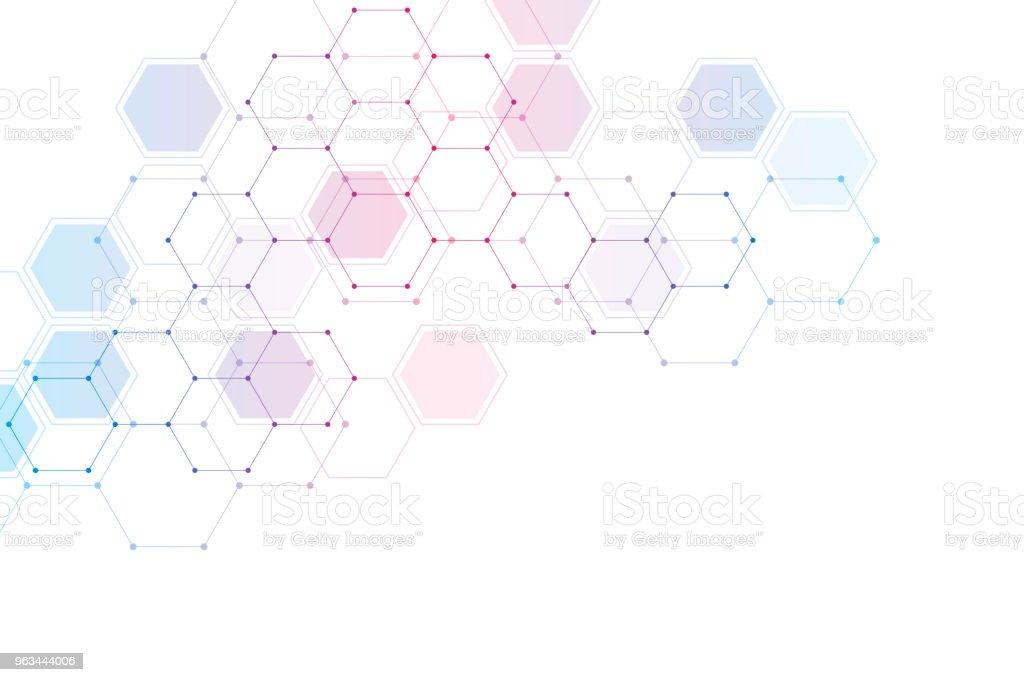 医療の背景または科学のデザイン化学化合物の分子構造とします幾何学的な