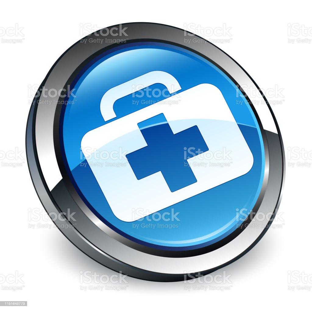 Medizinische Runde 3d Stock Icon Blaue Tasche Vektor Taste OPXwkN8n0