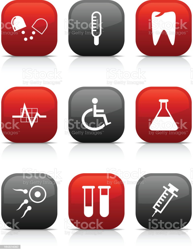 Medical  buttons. royalty-free stock vector art
