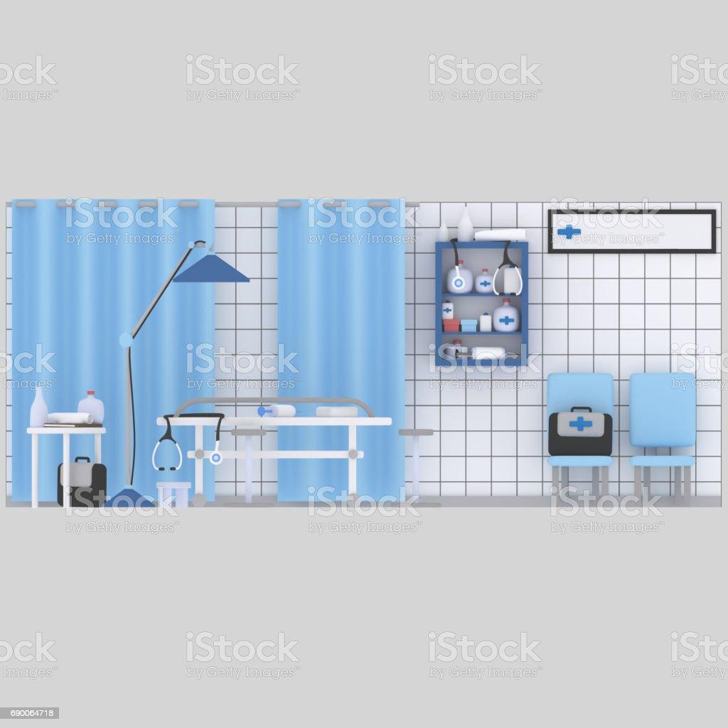 Clínica médica. Hospital. - ilustración de arte vectorial