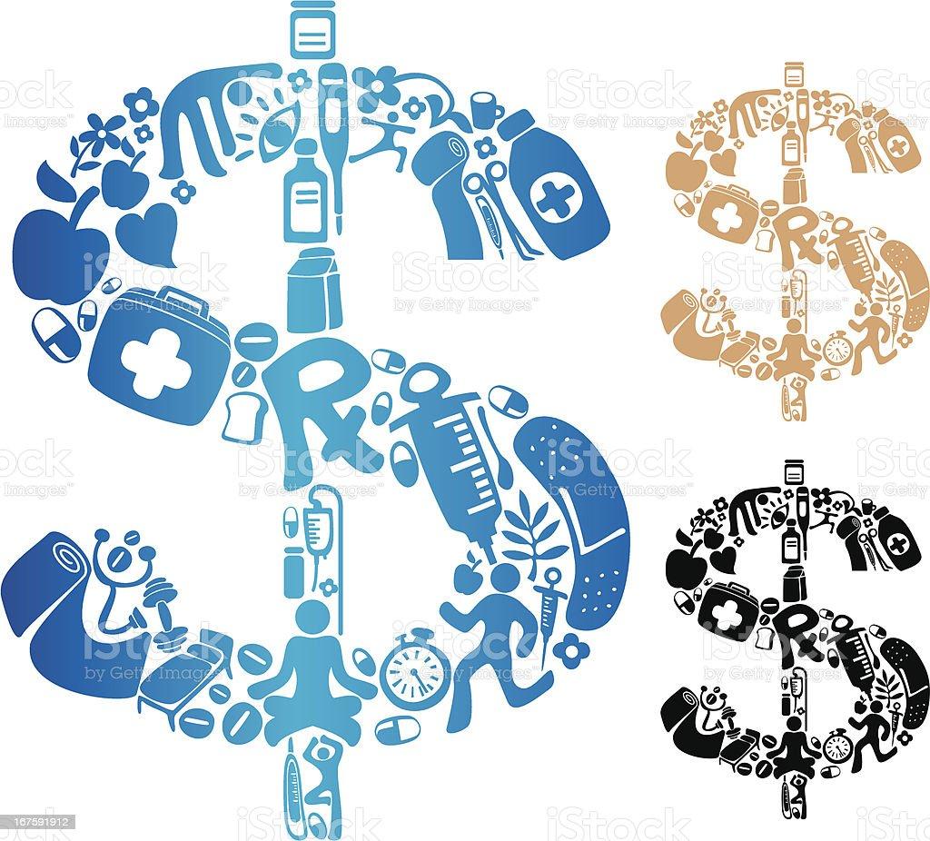 Medical Cost vector art illustration