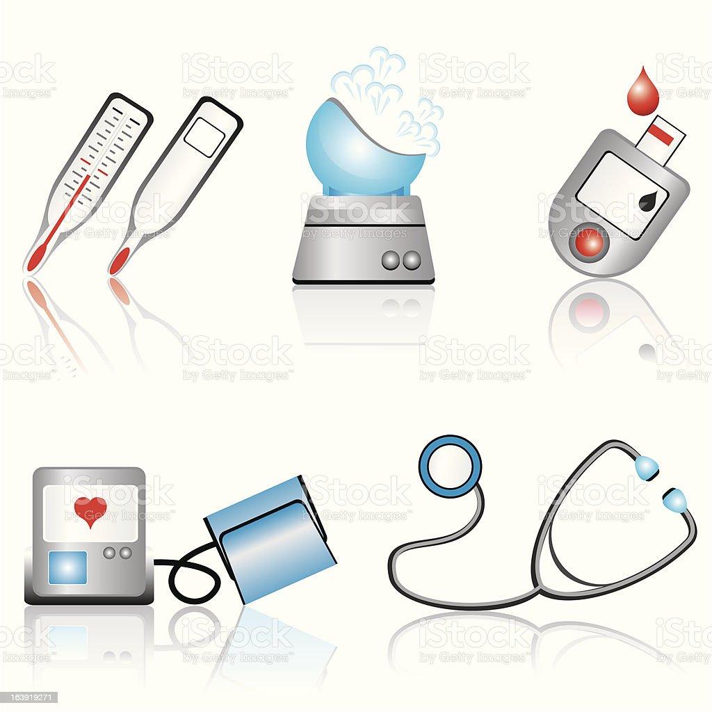 medical devices vector art illustration