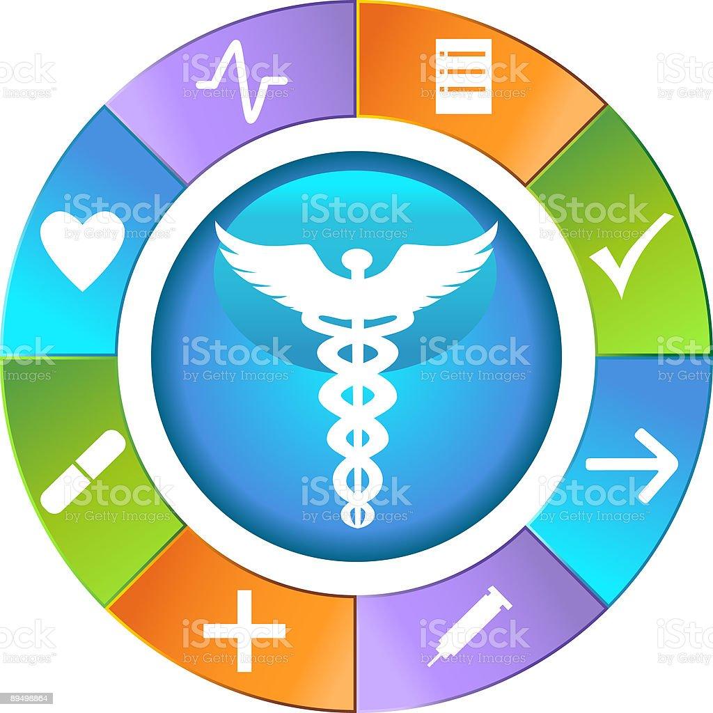 Medical Icon Circle Interface royalty-free medical icon circle interface stock vector art & more images of arrow symbol