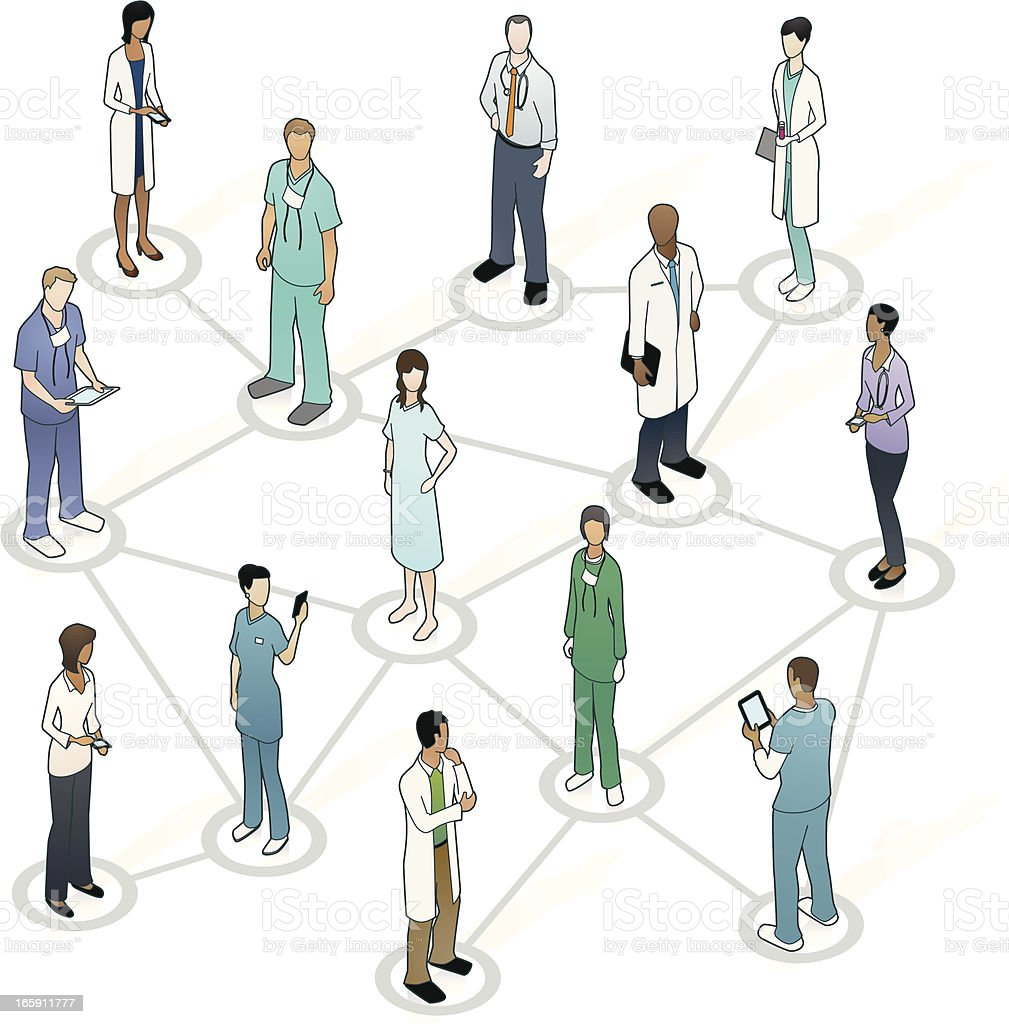 Medical Network Illustration vector art illustration