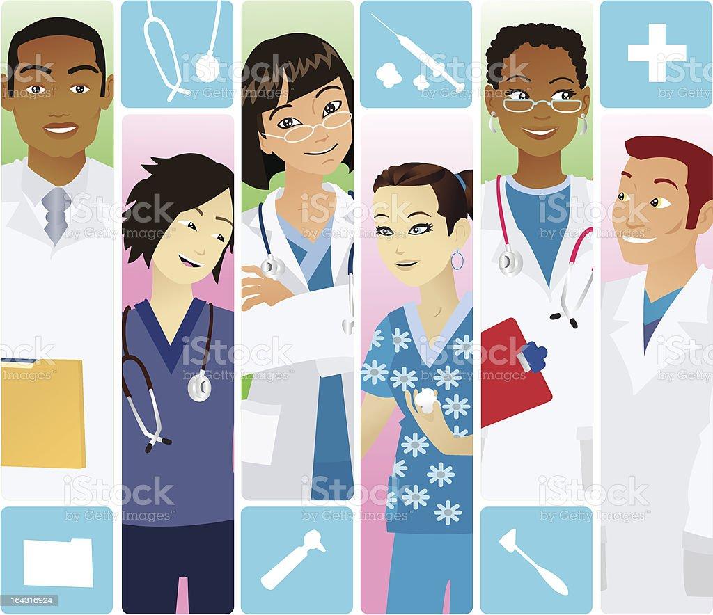 Medical team royalty-free stock vector art