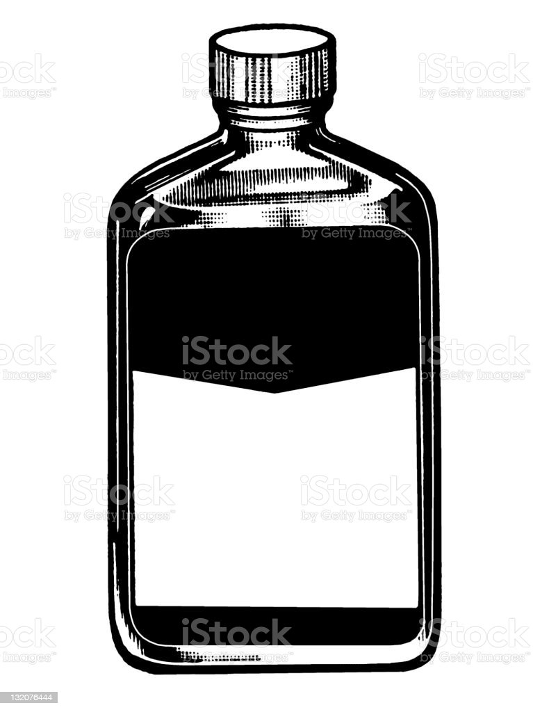 Medicine bottle with blank Label royalty-free stock vector art
