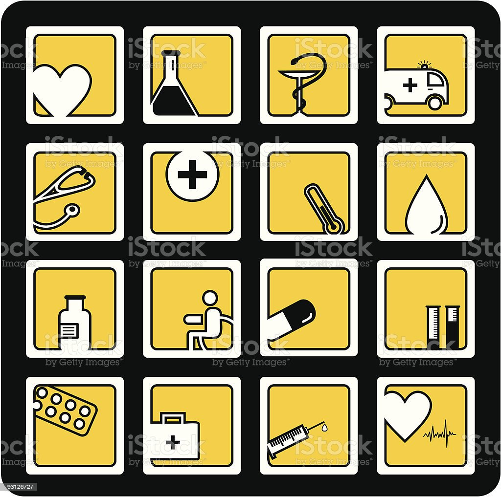 Medicine icons set royalty-free stock vector art