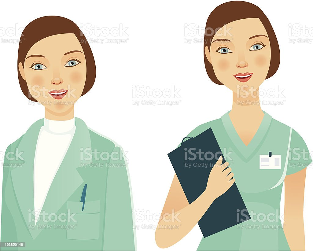 Medicine Woman vector art illustration