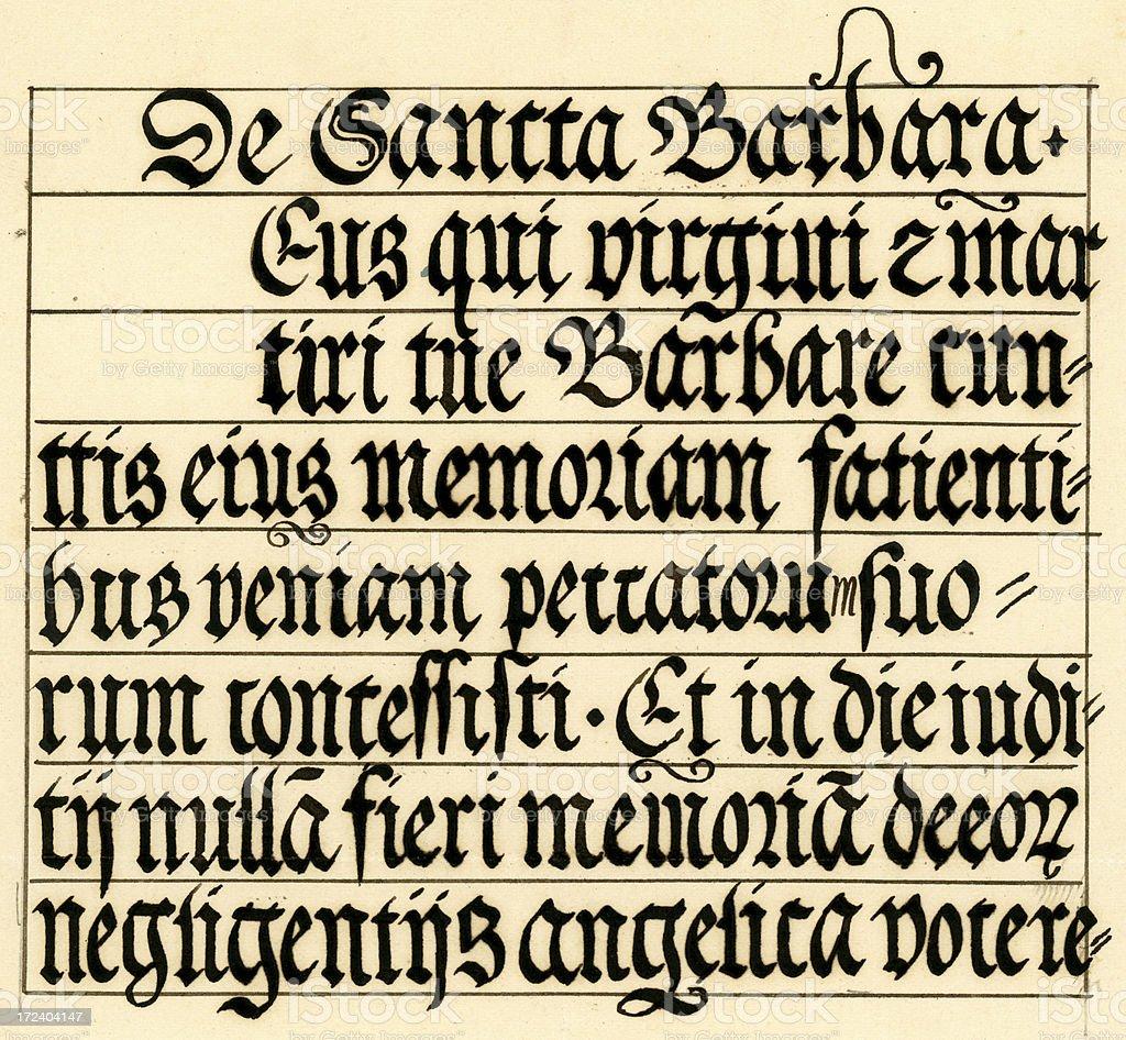 Medieval calligraphy vector art illustration