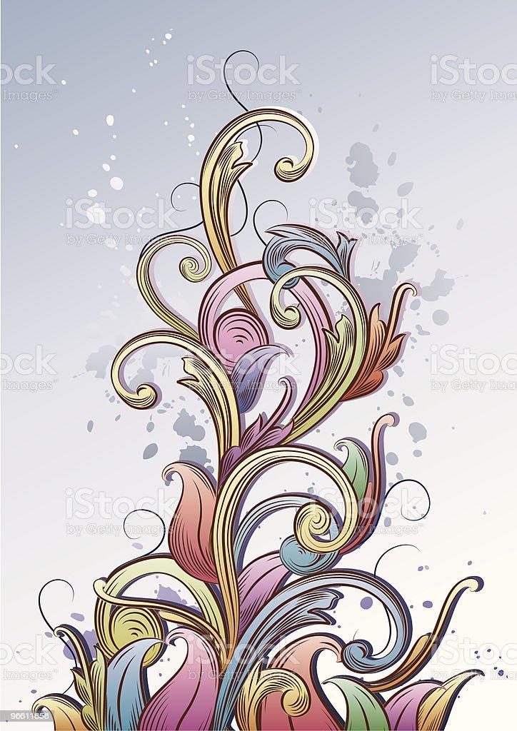 Medieval Florish - Royaltyfri Abstrakt vektorgrafik