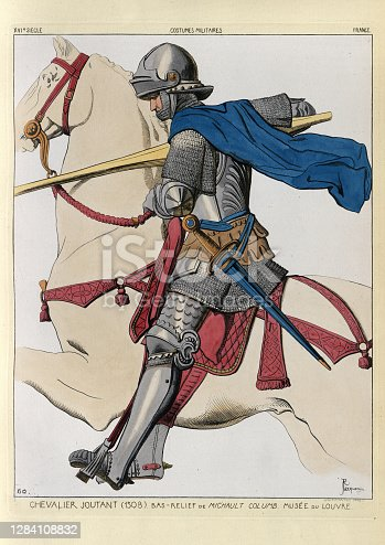 istock Medieval French knight jousting, early 16th Century 1284108832
