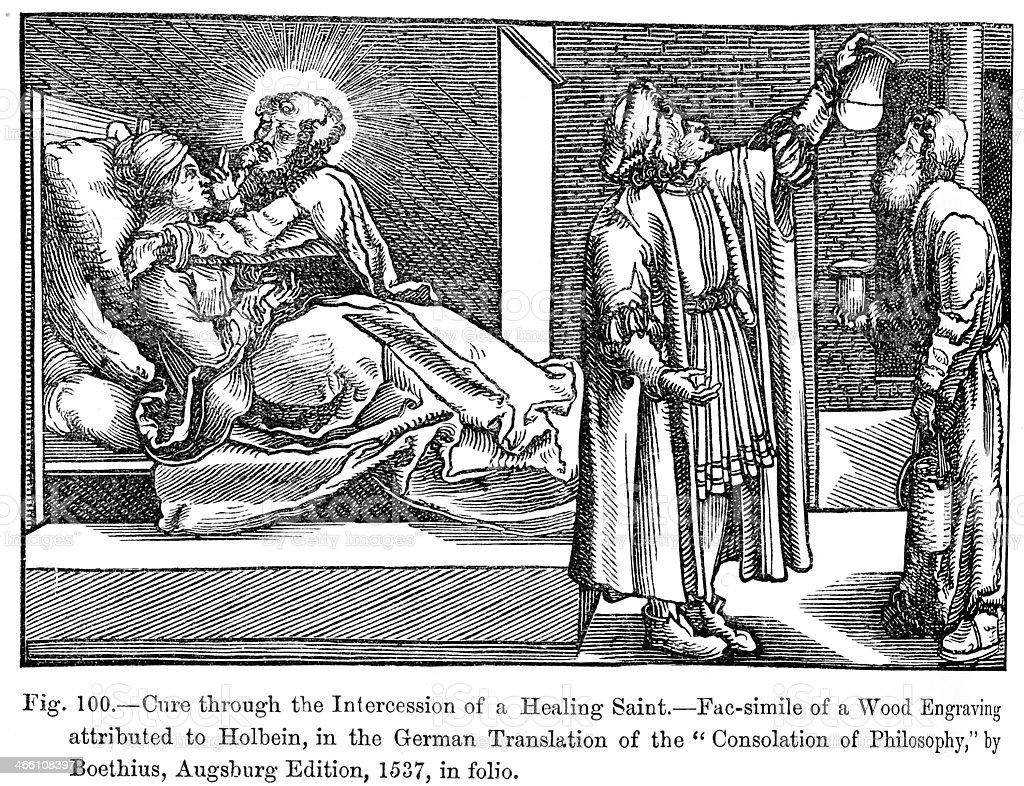 Medieval Healing royalty-free stock vector art