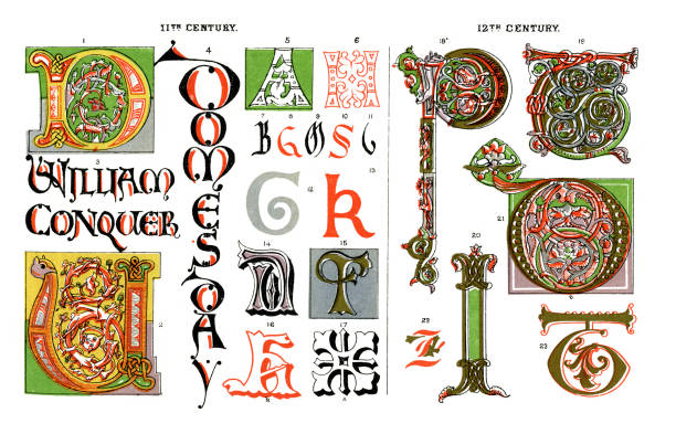 8 letter word for medieval code top 60 illuminated letter clip vector 17059